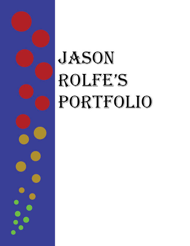 The front page of an old portfolio.